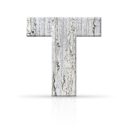 t letter white wood texture photo