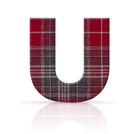 u letter plaid fabric texture Stock Photo - 22782370