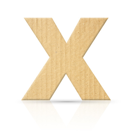 x letter cardboard texture photo
