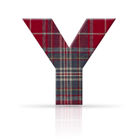 y letter plaid fabric texture photo