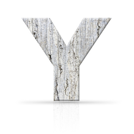 y letter white wood texture photo
