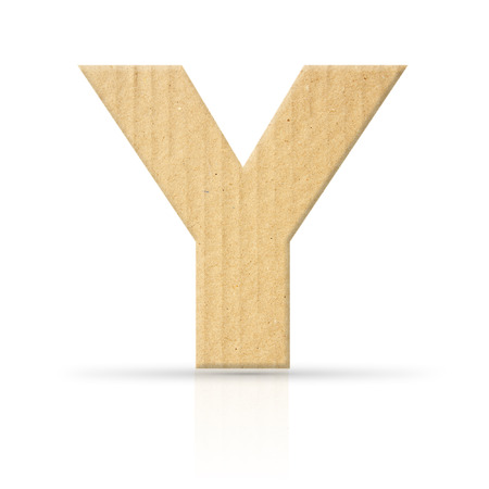y letter cardboard texture photo