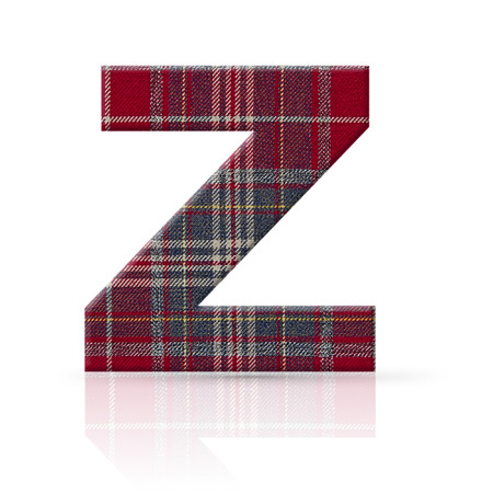 z letter plaid fabric texture photo