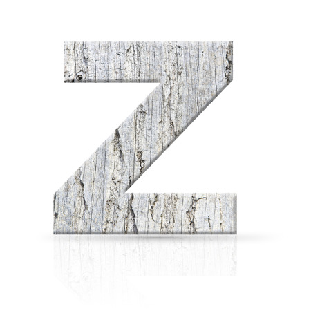 z letter white wood texture photo