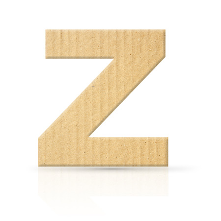 z letter cardboard texture photo