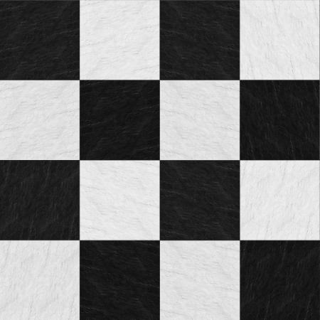 squared tiled white and black stone texture
