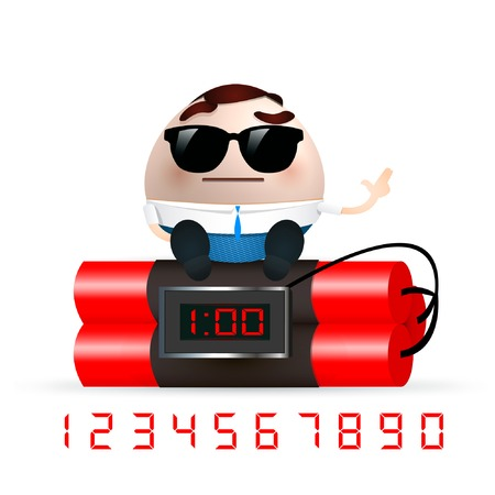 businessman with dynamite Vector