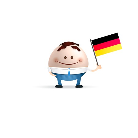 businessman germany flag Vector