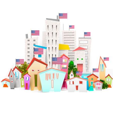 city illustrator Vector