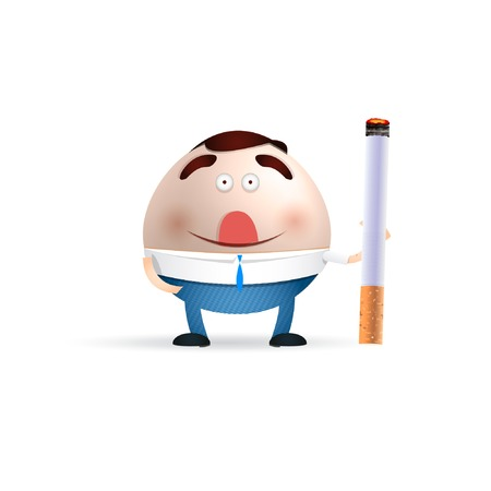 background e cigarette: cartoon with cigarettes Illustration