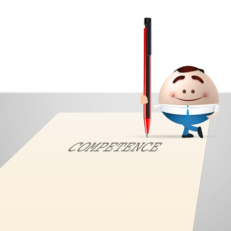 business cartoon man with a pencil Vector