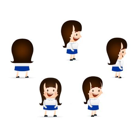 cute girl cartoon: cute girl cartoon poses