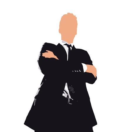 businessman cartoon. confidence concept Vector