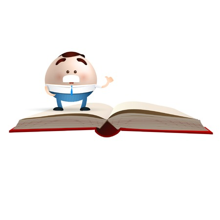 businessman cartoon on an empty book Vector