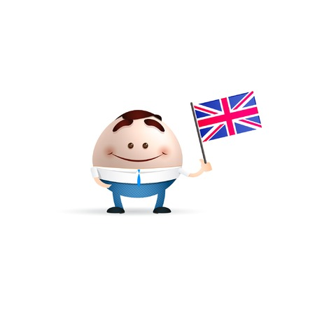 businessman cartoon holding england flag Vector