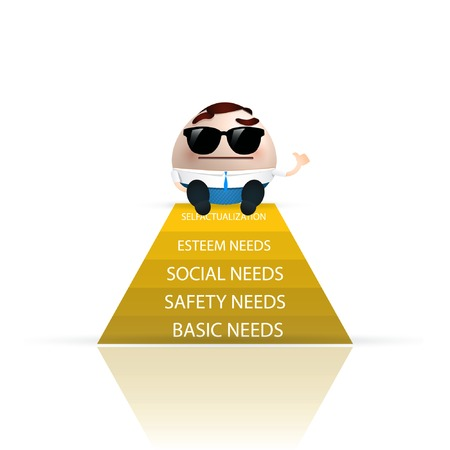 businessman cartoon pyramid of needs Vector