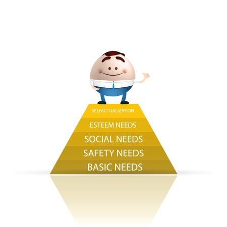 salud sexual: empresario de dibujos animados piramide De Las needs