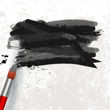 paint spot on canvas background Vector