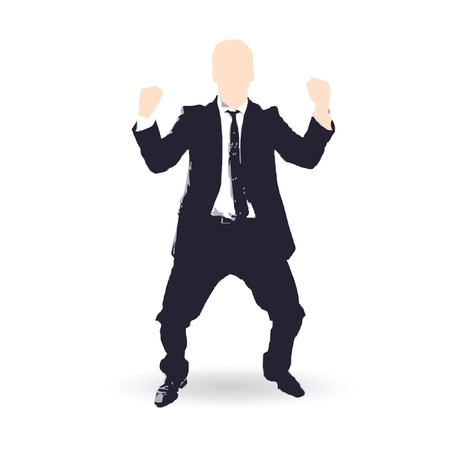 businessman cartoon success concept Vector