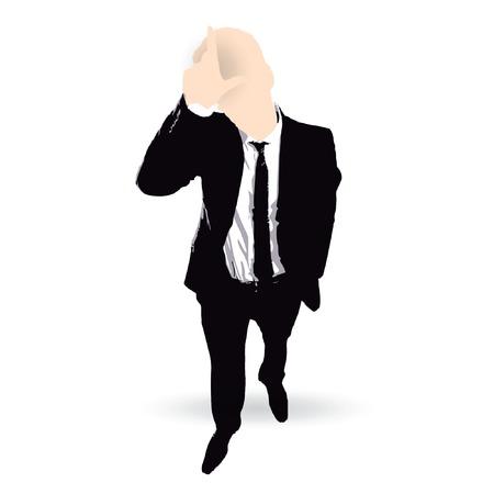 loser: businessman cartoon loser concept