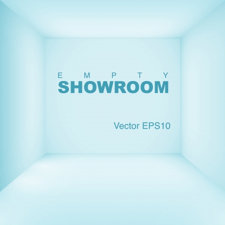 empty showroom Vector