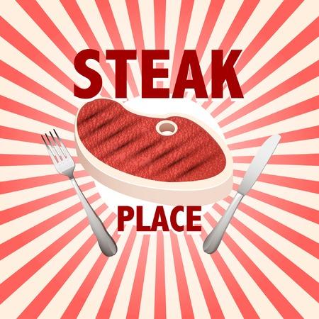 steak poster Vector