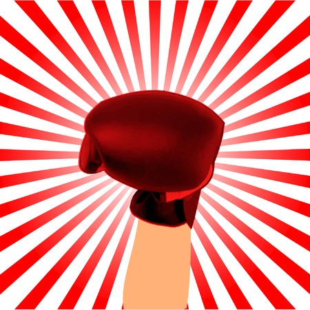 boxing glove: boxing glove background  fight concept Illustration