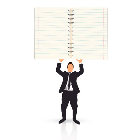 businessman holding a notebook photo