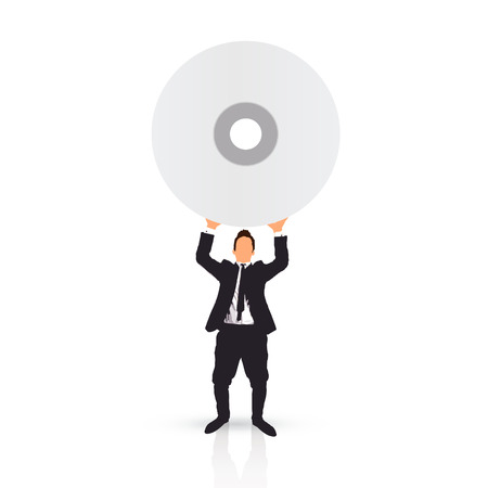 businessman and a cd photo