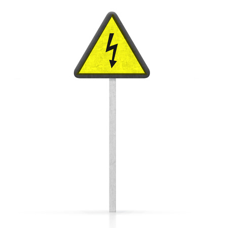 danger of electrocution sign photo