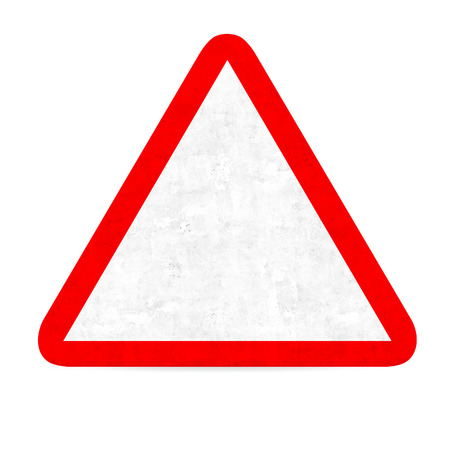 blank road sign: empty danger road sign