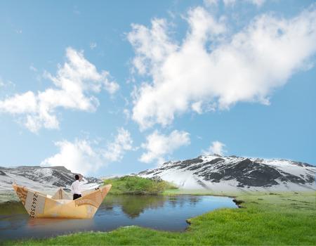 bill boat on a lake photo