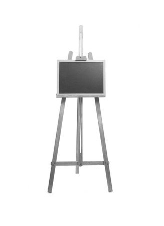artboard: easel and placard Stock Photo