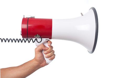 hand and a megaphone photo