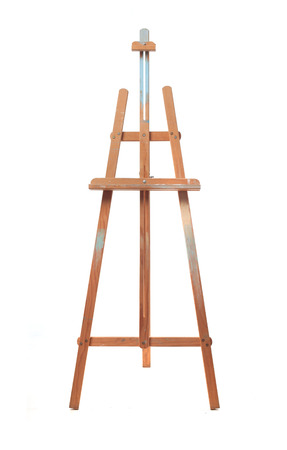 artboard: easel isolated in white  Stock Photo