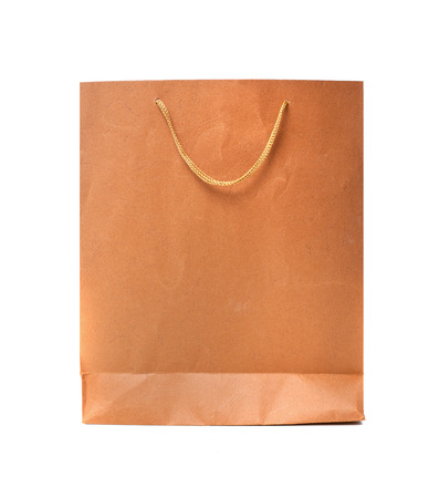 paper bag isolated in white  photo