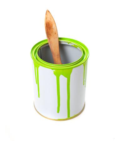 Seau de peinture isolé en blanc Banque d'images - 30271251