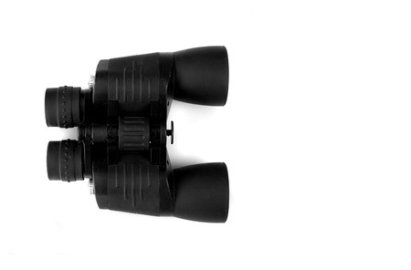 binoculars  isolated in white  photo
