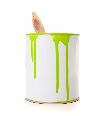 paint bucket  isolated in white  photo