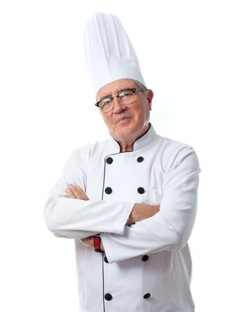 cheff: senior cool man proud cheff Stock Photo
