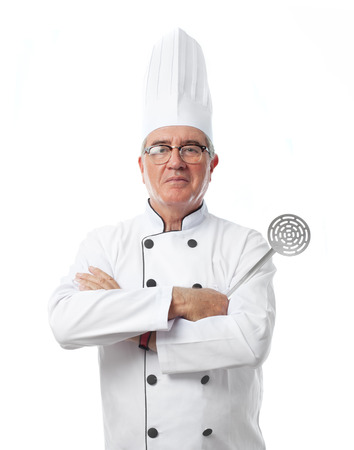senior cool man cheff concept Stock Photo