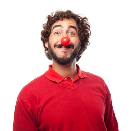 joking: joking man Stock Photo