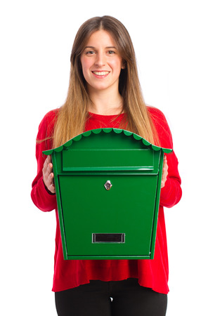 young cool girl with a mail box photo
