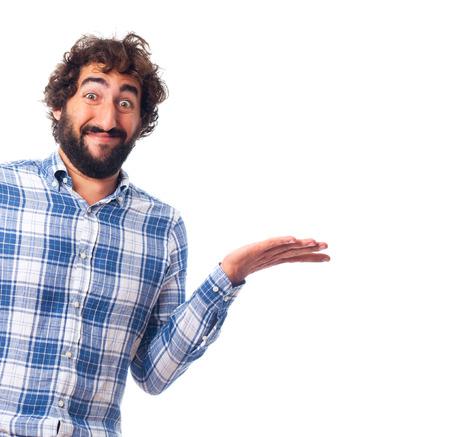 persona confundida: joven hombre confundido Foto de archivo