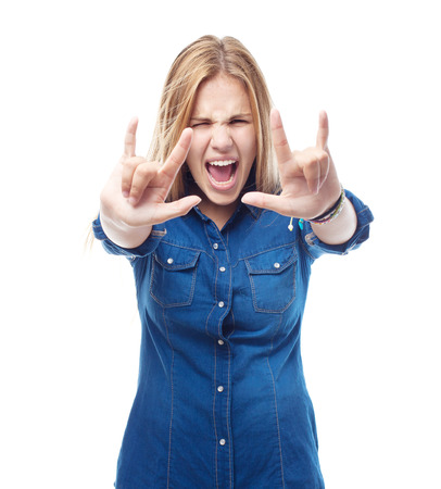 provoked: young cool woman disagreement pose