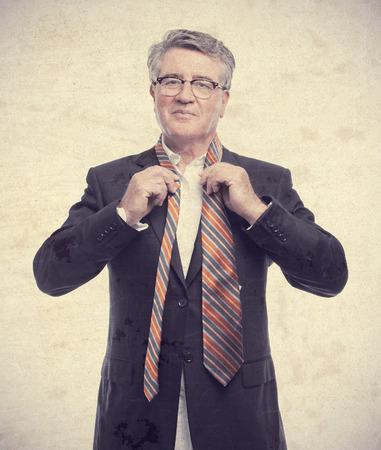 senior cool man with a necktie photo