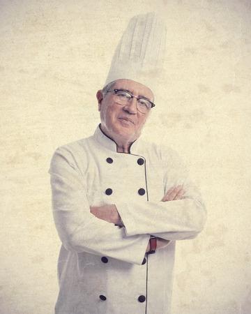 cheff: senior cool man proud cheff Stock Photo