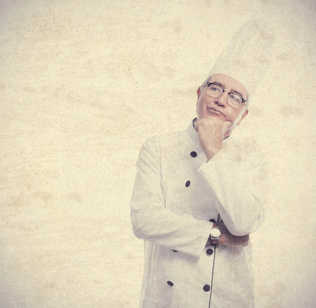 cheff: senior cool man thinking