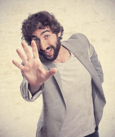 crazy man: young crazy man dancing