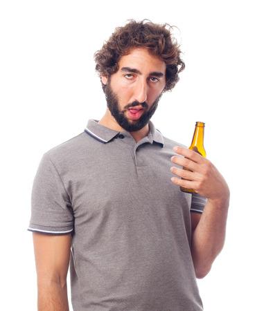 borracho: hombre joven loco concepto bebido Foto de archivo